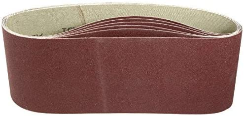 - Aluminum oxide sanding belt, polishing joint, 240 mm, 4 inches x 24 inches, 6 pieces