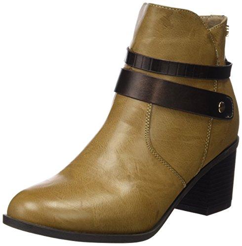 Taupe Botin para C XTI Beige Punta con Taupe Sra de Cerrada Mujer Tacón Zapatos qtBwadBv