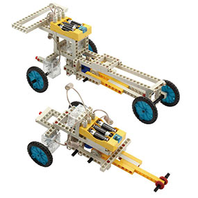 Build 10 remote control models including a formula car and a folding car