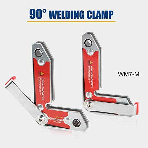 Fevas 2pcs/Set Magnetic Holder/Corner Welding Magnets/Internal and External Right Angle Fixator 30 60 90 Angles Magnetic Clamp