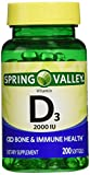 Spring Valley twin pack vitamin d3 2000I.U. Immune Health/Bone Health
