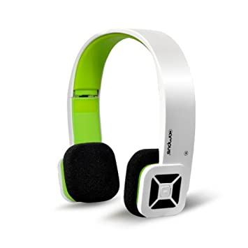 Campus Manhattan - Cascos Bluetooth con mando a distancia, color blanco y verde