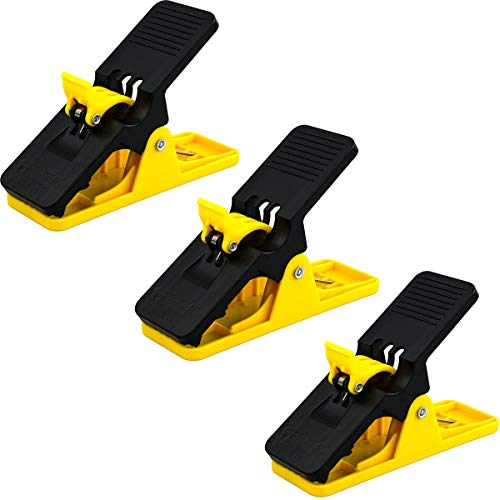 Cigar Holder Clip - Yellow Cigar Minder - 3 Pack (Best Golf Cart Cigar Holder)