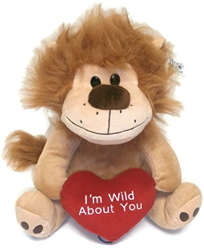 Valentine Lion with Heart Im Wild About You