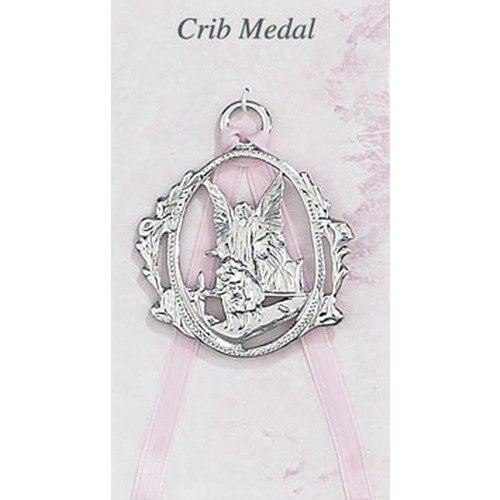 McVan Inc. Guardian Angel Crib Medal Pink - Décor Gift Religious PW6-P-MCVAN ()