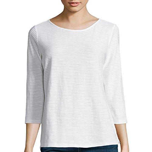 liz-claiborne-3-4-sleeve-shadow-striped-t-shirt-size-pxl
