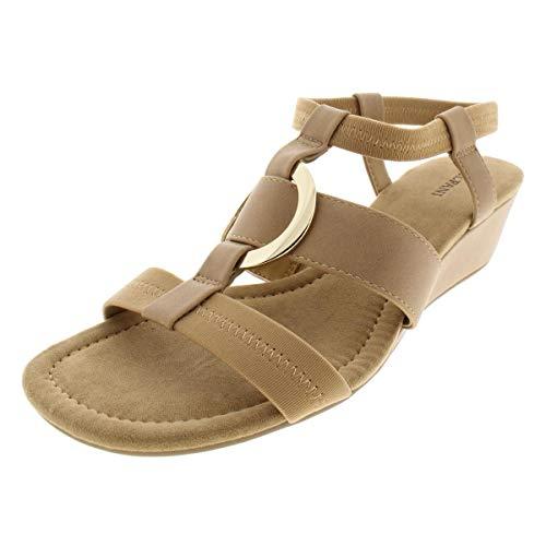 Alfani Womens Slingback - Alfani Womens Vennice Open Toe Casual Slingback Sandals, Camel Pu, Size 10.0