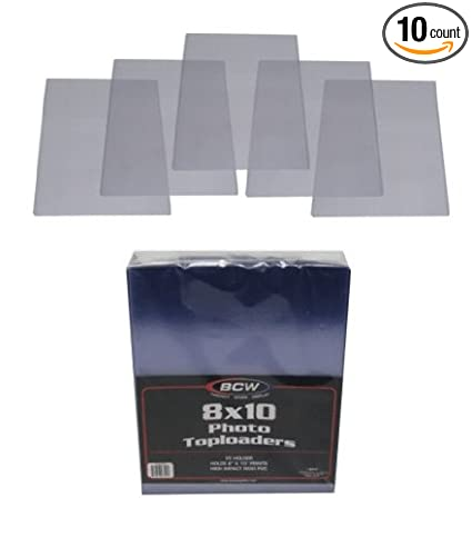 Amazoncom 10 8x10 Photograph Topload Holders Rigid Plastic