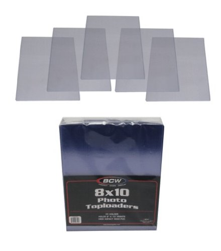 ((5) 8X10 Photograph Topload Holders - Rigid Plastic Sleeves - BCW Brand )