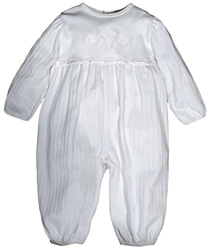 Raindrops Opal Christening Party Girl Long Sleeve Coverall, 12-18 Months