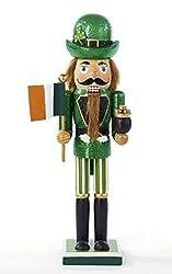 Kurt Adler Irish Nutcracker with Flag and Pot of Gold,...