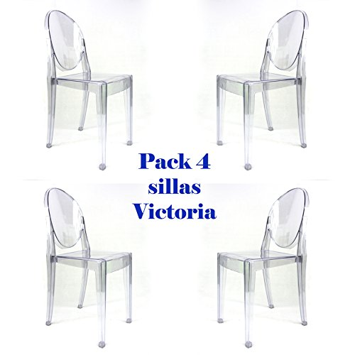 Pack 4 Transparentes Oui Victoria Sillas Home Ghost 7gbf6y