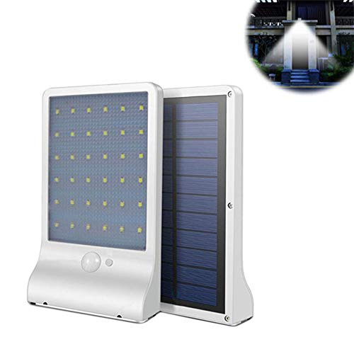 CRTing Solar Lights Outdoor 36 LED 3 Optional Modes Wireless Waterproof Solar Powered Motion Sensor Wall Lights Security Night Lights for Garden Patio Yard Deck Garage Home Porch Path (White,1pack) ()