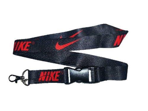 1 X Nike New Black /Red Lanyard Keychain (Apple Lanyard)