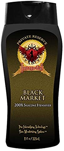 Immoral Black Market 200X Private Reserve Tanning Lotion | Bronzer Free, Tingle Free, Tattoo Safe, Streak Free Outdoor/Indoor Tanning Bed Silicone Intensifier, Accelerator and Tan Maximizer, (Indoor Tanning Bed Accelerator)