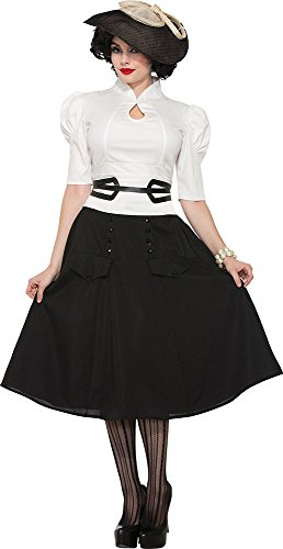 Ladies 1940's World War 2 Bookweek Fancy Dress Party Outfit White Blouse (Womens World War 2 Costumes)