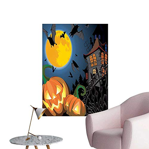 Wall Stickers for Living Room Gothic Scene Halloween Haunted P y Theme Trick or Treat Kids Vinyl Wall Stickers Print,16