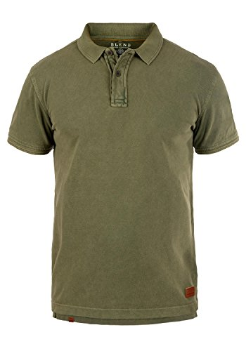 Coton Blend T Green 70595 Polo Camper Col Homme shirt 100 Dusty a4Sg1qxwaW
