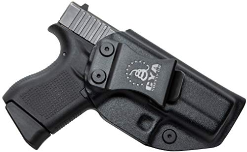 CYA Supply Co. IWB Holster Fits: Glock 43 - Veteran Owned Company - Made in USA - Inside Waistband Concealed Carry Holster (Best Glock 43 Iwb Holster)