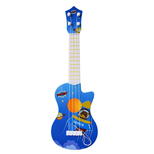 - Gbell Kids Ukulele Guitars with Cute Cartoon Animal Printed Music Toys - Non-Toxic Wooden Sturdy Musical Instrument Preschool Educational Toys Gifts for Toddlers Girls Boys Kids Adults (Blue)