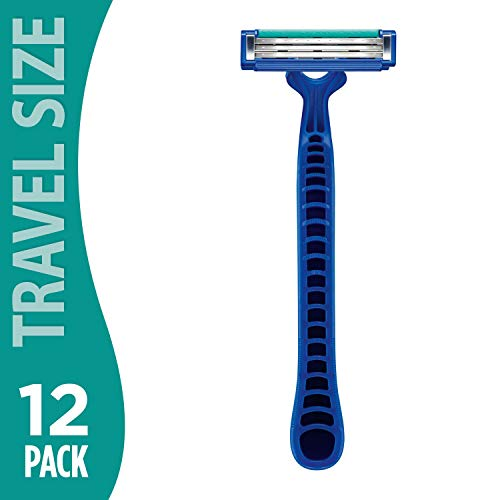 Gillette Sensor 2 Pivot Plus Disposable Razor (12 Pack) | Comfortable Double Twin Blade | Lubrastrip for Smooth Sensitive Skin Shave | Bulk Pack Razors for Cruise, Vacation and Business Travel