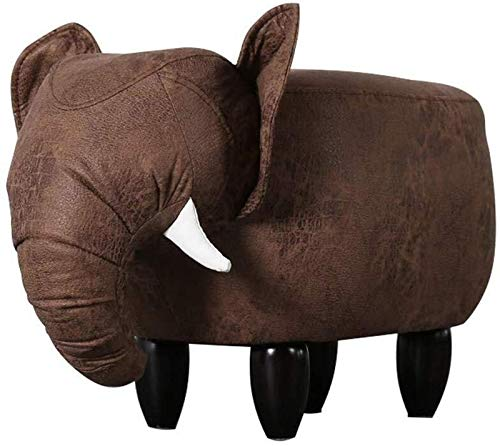 CHU N Creative Animal Footstools, Padded Cushion Footstool Rest Seat Sofa Chair 36x31x71 cm 929 (Size : Brown) by CHU N