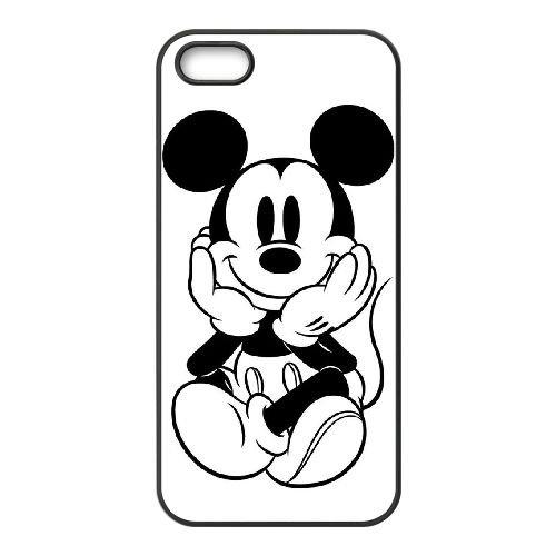 F3E59 Mikey souris C3I4VO coque iPhone 5 5s cellule de cas de téléphone couvercle coque noire IJ4BUR2UI