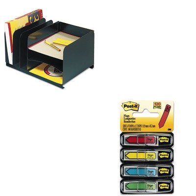 KITMMF26420HV004MMM684SH - Value Kit - MMF Vertical/Horizontal Combo Organizer (MMF26420HV004) and Post-it Arrow Message 1/2quot; Flags (MMM684SH)