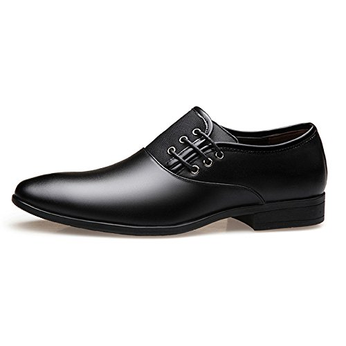 Broghe Uomo Eleganti Da Punta Scarpe Black Formali HGDR Con Uomo Da Pelle A In Scarpe q4wx7xCOS