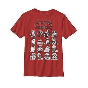 Star Wars Boys' Episode 8 Last Jedi Grid Logo