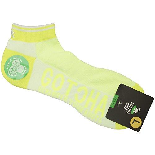 (ガッチャ ゴルフ) GOTCHA GOLF 靴下 ネオン リブライン ソックス Ⅱ 吸水速乾 抗菌防臭 日本製 72GG8805 (ホワイト?サイズL)