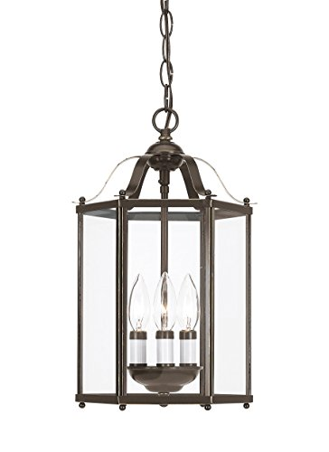 Sea Gull 5231EN-782 Bretton Semi Flush, 3-Light 10.5 Total Watts, Heirloom Bronze (Bretton Pendant Lighting)