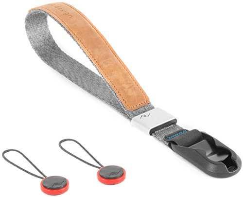 - Peak Design CF-AS-3 Camera Strap, Aluminium, Leather, Nylon, Grey