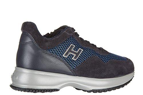 Hogan Zapatos Zapatillas de Deporte Niño EN Ante Nuevo Interactive Blu