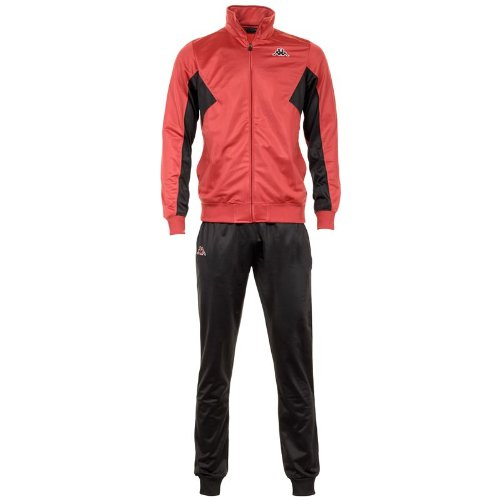 Kappa - Chándal - para hombre Rouge - Black-Red India medium  Amazon.es   Ropa y accesorios c3ada1cf48c74