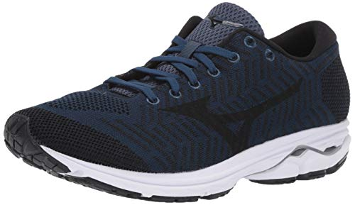 Mizuno Men's Wave Rider 22 Knit Running Shoe, Blue Wing Teal Black 11 D US