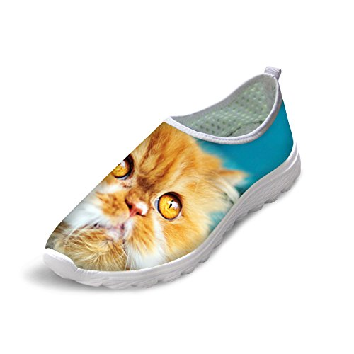 Bigcardesigns Kvinners 3d Levende Nydelig Katt Lette Joggesko Joggesko Cat 4