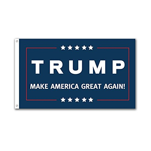2 Pack ( 1 White and 1 Blue)  -- 3x5ft Commemorative Trump Flag -- Presidental Inauguration Donald Trump-- MAKE AMERICA GREAT AGAIN!!!