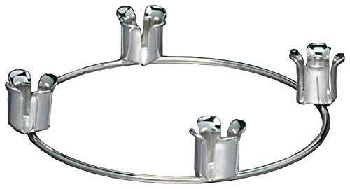 - Biedermann & Sons Advent Ring Candle Holder, Chrome