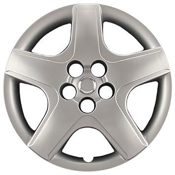 """hubcaps. com – PREMIUM CALIDAD – Toyota Matrix réplica Tapacubos, 16 """"plata"""