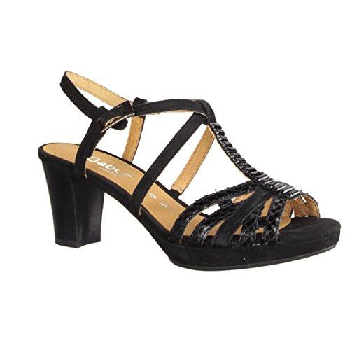 Gabor 42.395.87 - Sandalias de vestir de Piel para mujer Negro negro Negro - negro