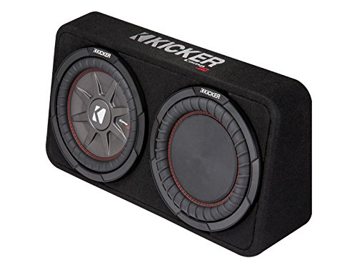 Kicker 43TCWRT104 CompRT 10'' 4-Ohm Subwoofer in Thin Profile Enclosure