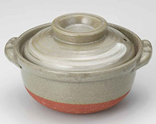Daruma for 1-2 persons 7.7inch Donabe Japanese Hot pot Grey Ceramic Made in Japan by Watou.asia