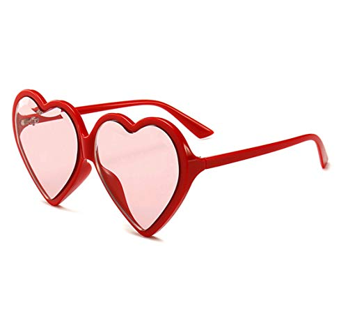 ce2384499d8a GAMT Heart shaped Sunglasses for Women Oversized Retro Glasses Cute Eyewear  UV400 red Frame red Lens