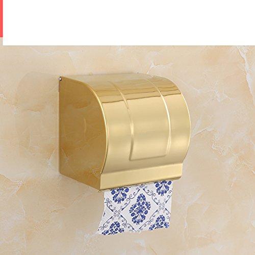 (Hair Dryer Holder,Hair Dryer Shelf,Hair Blow Dryer Holder, European style Towel rack Single bar double Towel shelf Tripod blower shelf row hook Toilet brush holder Little tissue box-L )