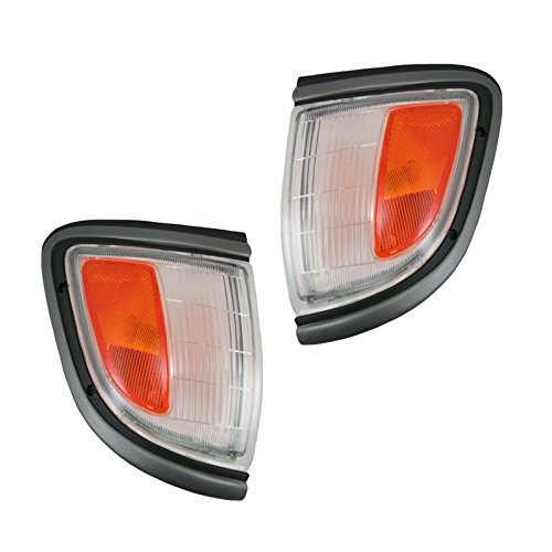 (Black Marker Parking Signal Light Pair Set for 95-96 Tacoma Pickup Truck 2WD)