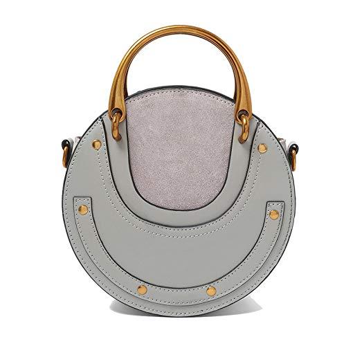 2d1916428ca5 GSYDXKB Shoulder Bag Brand Leather Handbag Round Anti-Velvet Matte ...