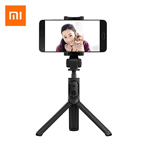 Original Xiaomi Selfie Stick, Foldable Tripod Selfie Stick Bluetooth Remote Control Selfiestick with Wireless Shutter for iPhone/Xiaomi/Huawei/Asus iOS Android Phone (Black)