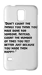 """""Don't count the things you think you have done for Samsung Galaxy S5 Plastic Case"