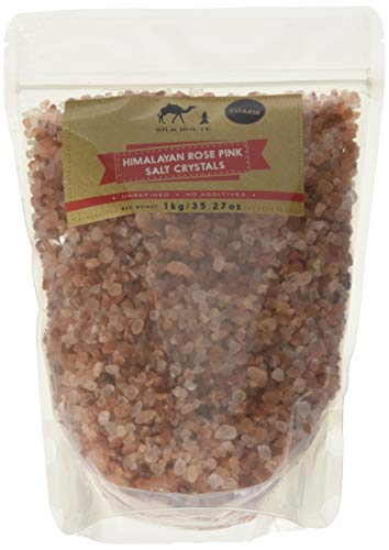 Silk Route Spice Company Himalayan Rose Pink Salt Resealable Pouch 2.2lb (Coarse) (Pink Himalayan Salt And High Blood Pressure)